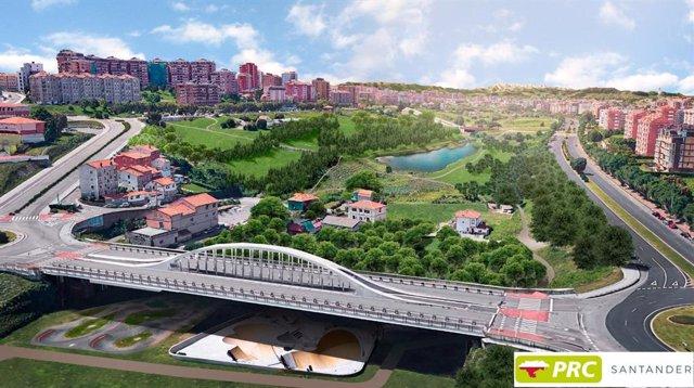 Propuesta del PRC de Santander para la II fase del parque de Las Llamas