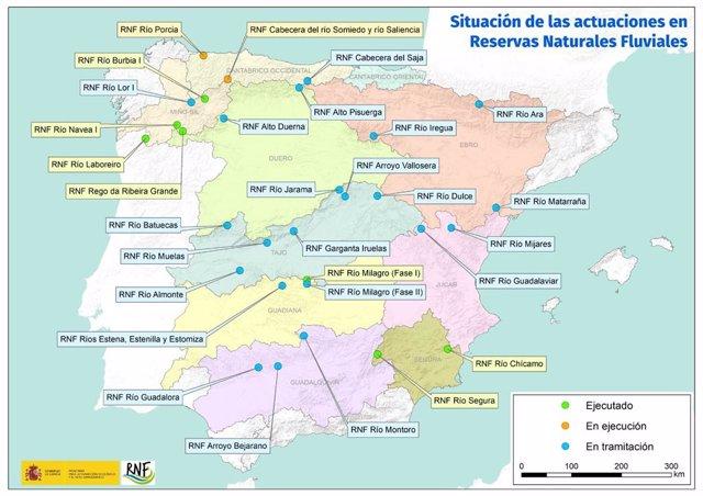 El Miteco destinará 14 millones a la conservación y mejora de las Reservas Naturales Fluviales.