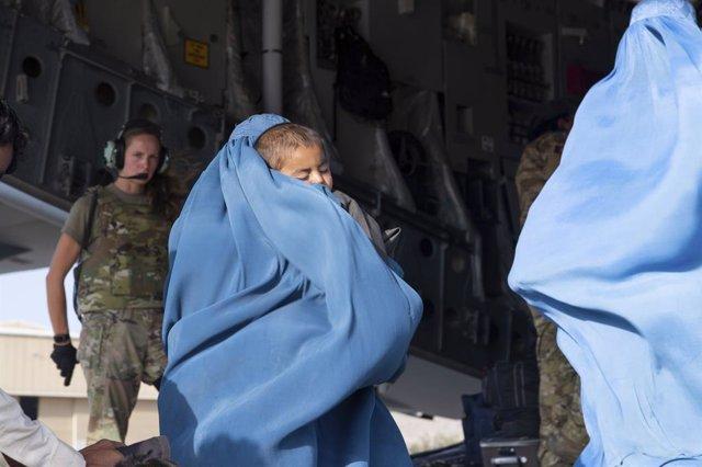 Operaciones de evacuación en el aeropuerto de Kabul