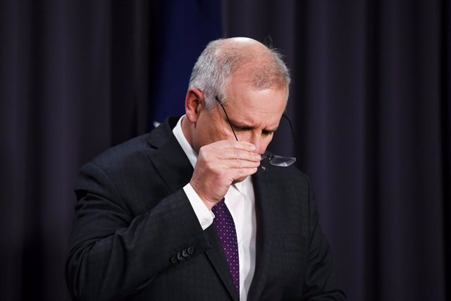 Australian Prime Minister Scott Morrison speaks to the media during a press conference following a national cabinet meeting in Canberra, Friday, August 6, 2021. (AAP Image/Lukas Coch) NO ARCHIVING