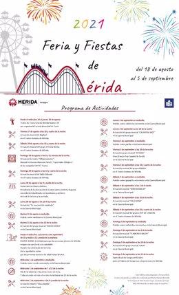 Programa de la Feria de Mérida 2021 en lectura fácil