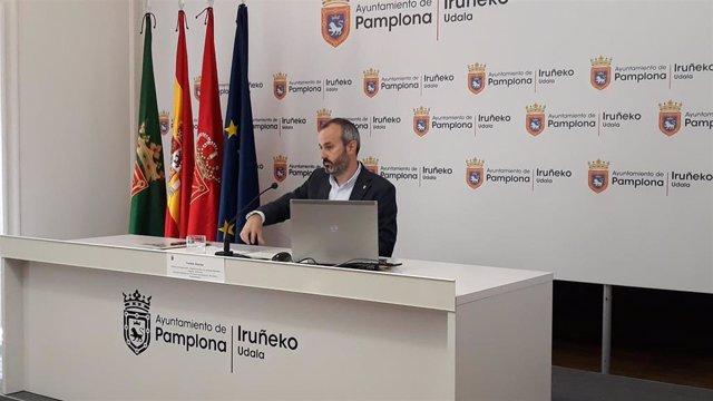 Archivo - El concejal en Pamplona Fermín Alonso.