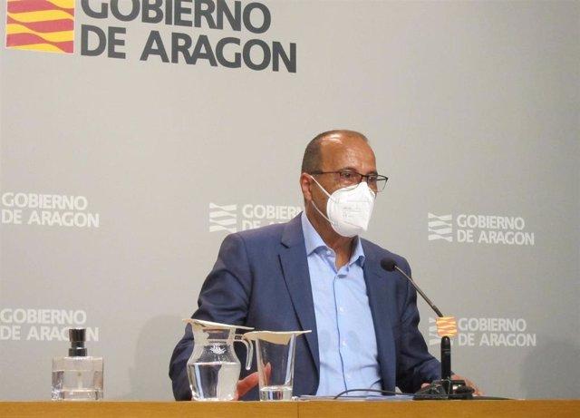 El consejero de Educación, Cultura y Deporte del Gobierno de Aragón, Felipe Faci.
