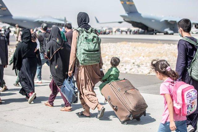 Operacions d'evacuació en l'aeroport de la capital de l'Afganistan, Kabul.