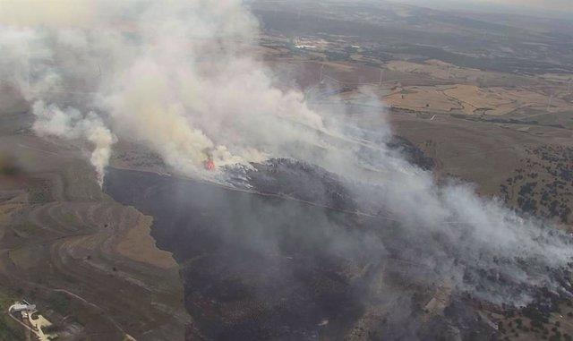 Incendio Forestal en la localidad burgalesa de Masa.