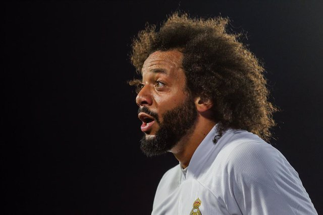 Archivo - Marcelo Vieira of Real Madrid protest to linyera during La Liga football match played between Real Madrid CF and Sevilla FC at Alfredo di Stefano stadium on May 09, 2021 in Madrid, Spain.