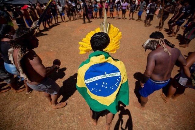 Protesta indégena en Brasilia