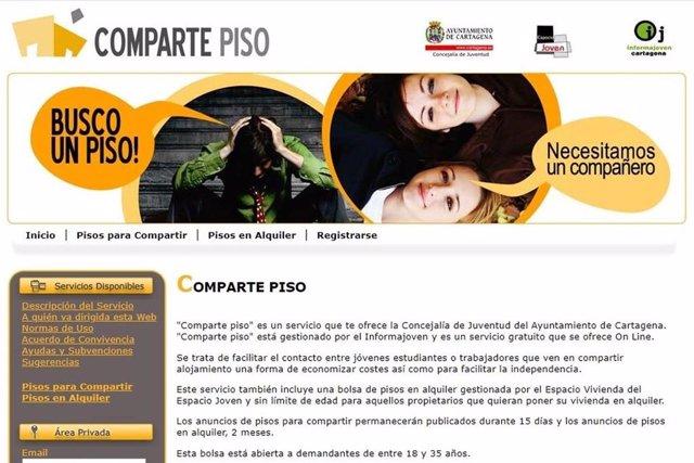 La aplicación 'Comparte Piso' para ayudar a los jóvenes a encontrar alojamiento en Cartagena supera los 13.000 usuarios