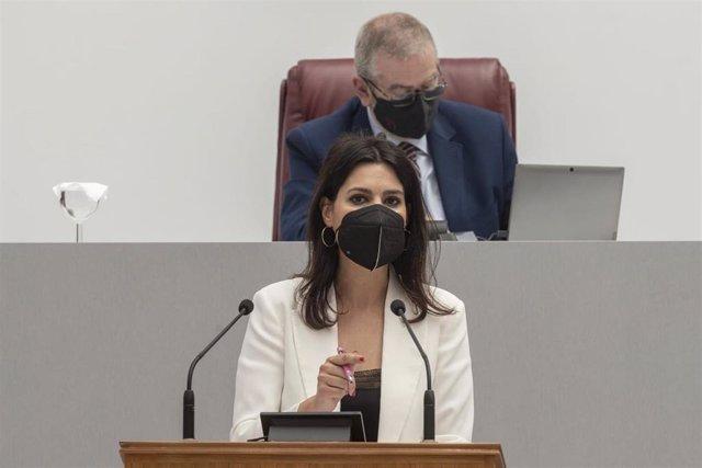 La portavoz del PP, Miriam Guardiola