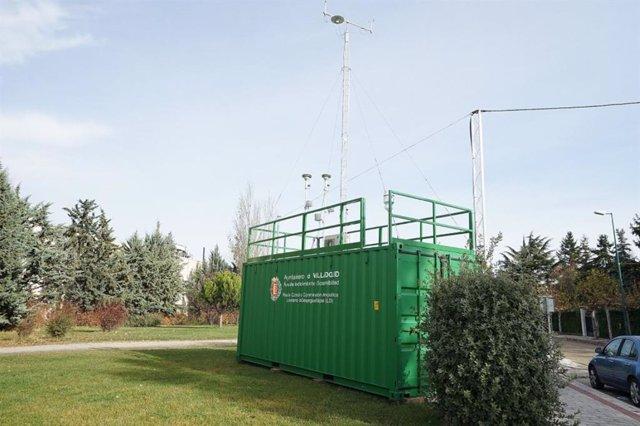 Una de las estaciones de la Red de Control de la Contaminación Atmosférica del Ayuntamiento de Valladolid.