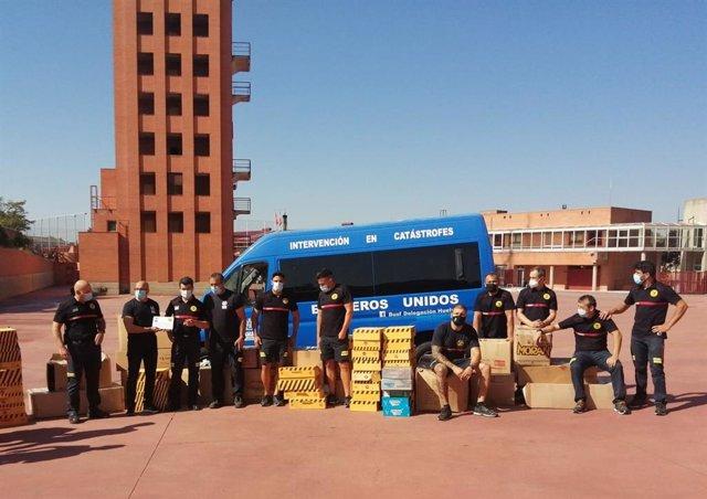 Donación de material de los Bomberos de Salamanca.