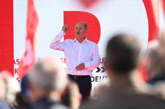 El candidato a canciller del Partido Socialdemócrata alemán (SPD), Olaf Scholz