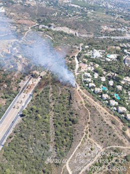 Incendio forestal Marbella
