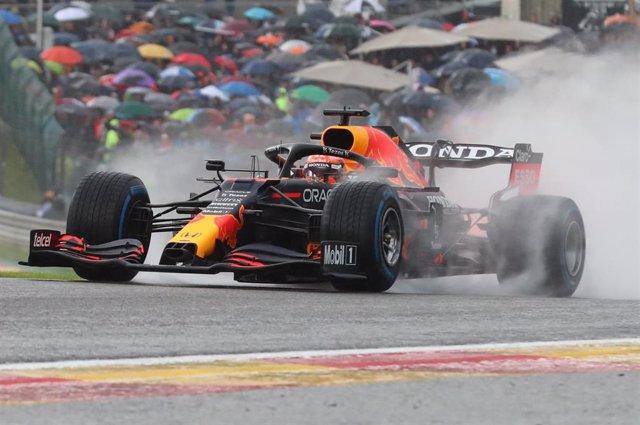 Max Verstappen en el Gran Premio de Bélgica 2021