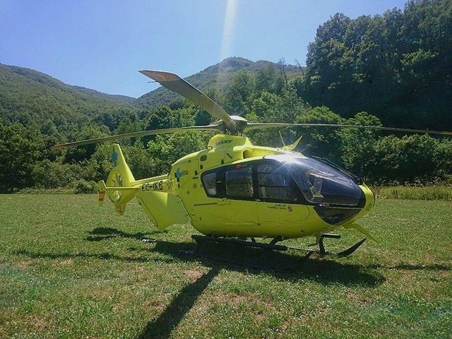 Archivo - Helicóptero medicalizado.