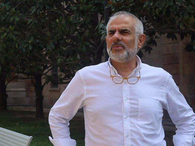 El líder de Cs en Catalunya, Carlos Carrizosa, en una entrevista de Europa Press.