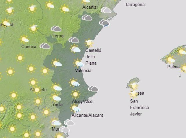 Predicción del tiempo para este domingo 29 de agosto