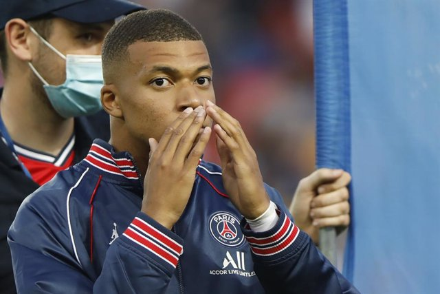 Paris Saint-Germain's French forward Kylian Mbappe during the French championship Ligue 1 football match between Paris Saint-Germain and RC Strasbourg on August 14, 2021 at Parc des Princes stadium in Paris, France - Photo Mehdi Taamallah / DPPI