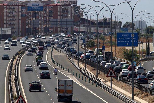 Archivo - Las carreteras de entrada y salida a Málaga