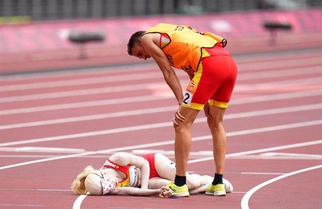 Susana Rodríguez y Celso Comesaña tras las series de los 1.500 metros T11