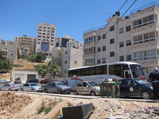 Archivo - Imagen de una calle de Ramala (Cisjordania)