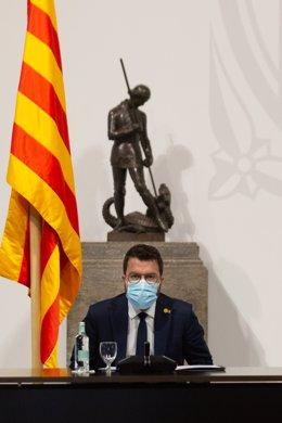 Archivo - Arxiu - El president de la Generalitat, Pere Aragonès