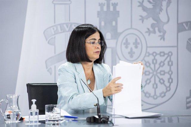 Arxiu - La ministra de Sanitat, Carolina Darias