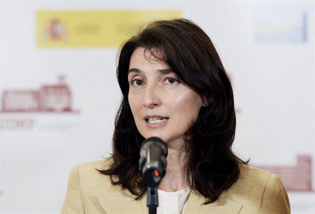 La ministra de Justicia, Pilar Llop, responde a los medios en Santander, Cantabria.