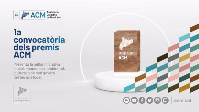 Cartell de la primera convocatòria dels Premis ACM