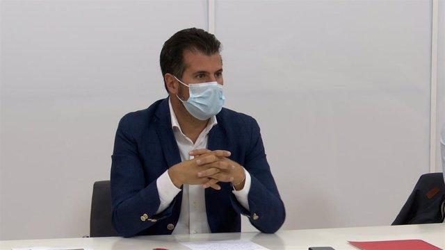 El secretario general del PSOECyL, Luis Tudanca.