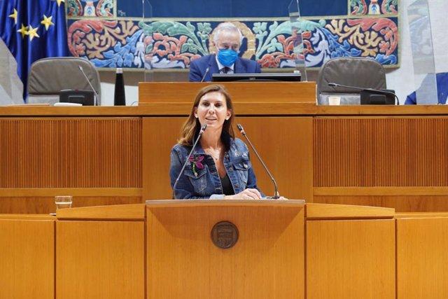 La diputada portavoz de Ciudadanos en Industria, Competitividad y Desarrollo Empresarial en las Cortes de Aragón, Jara Bernués.
