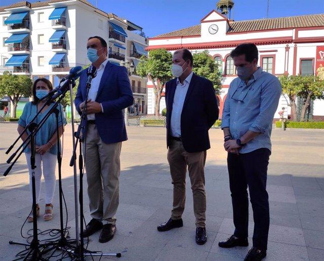 Comparecencia de los alcaldes de Lebrija y El Cuervo