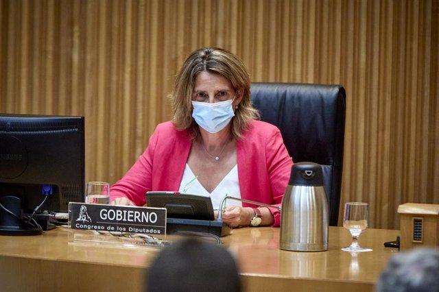 La ministra de Transición Ecológica y Reto Demográfico, Teresa Ribera, preside una Comisión de Transición Ecológica y Reto Demográfico, a 30 de agosto de 2021, en Madrid, (España).