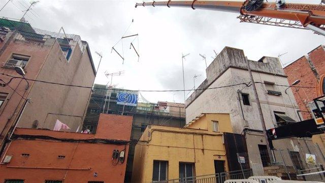 Enderroc de les finques del passatge Sigüenza al barri del Carmel de Barcelona