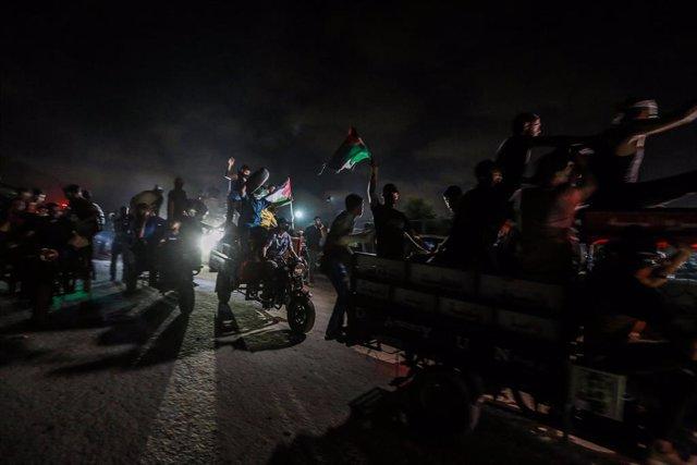 Protestas en la frontera de Gaza.