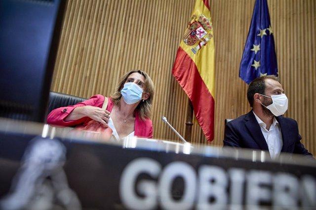 La ministra de Transició Ecològica i Repte Demogràfic, Teresa Ribera, presideix una Comissió de Transició Ecològica i Repte Demogràfic, a 30 d'agost de 2021, a Madrid