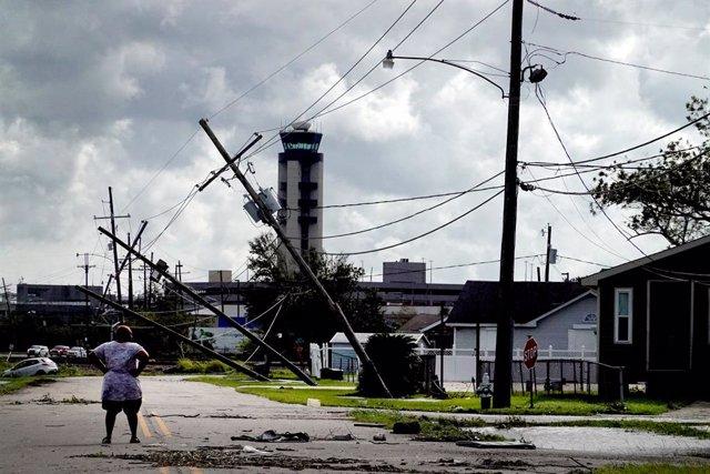 Paso del ciclón 'Ida' por el estado de Luisiana