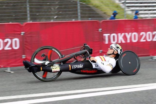 Luis Miguel García-Marquina durante la prueba de contrarreloj H3 de los Juegos Paralímpicos de Tokio