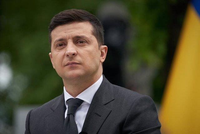Archivo - El presidente de Ucrania, Volodimir Zelenski