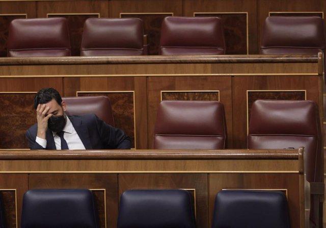 Archivo - El secretario general del Grupo Parlamentario Popular y diputado por Las Palmas, Guillermo Mariscal, en una sesión plenaria en el Congreso de los Diputados, a 24 de junio de 2021, en Madrid, (España).