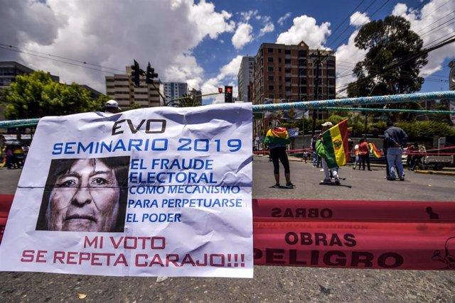 Archivo - Protestas tras las elecciones de 2019 en Bolivia