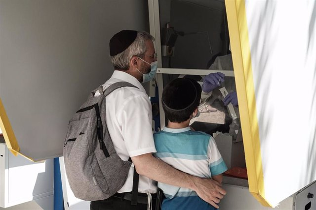 Prueba de coronavirus en Jerusalén