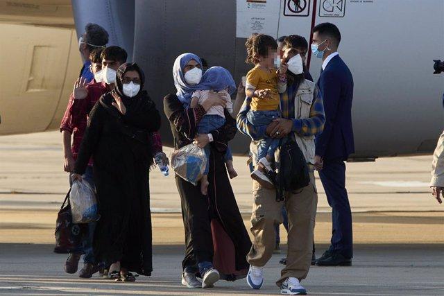 Imagen de archivo de refugiados afganos.