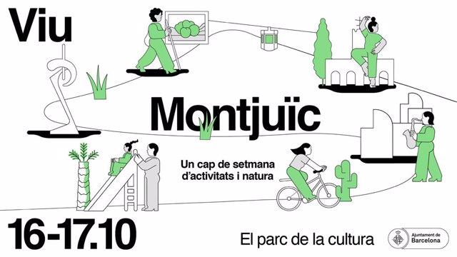 Imatge promocional del cap de setmana cultural a Montjuïc programat per a l'octubre.