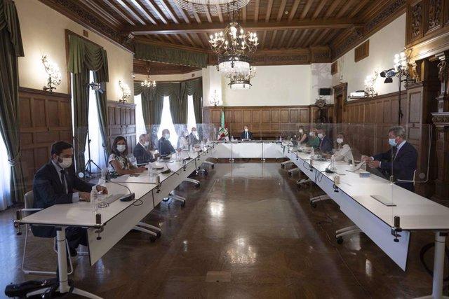 Preimer Consejo de Gobierno del nuevo curso político en el Palacio Miramar de Donostia-san Sebastián, con el Lehendakar, Iñigo Urkullu, a la cabeza