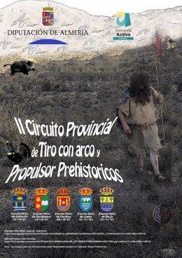 II Circuito Provincial de tiro con arco y propulsor prehistórico.