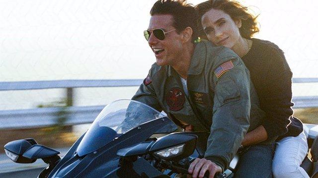 Tom Cruise y Jennifer Connelly en Top Gun: Maverick