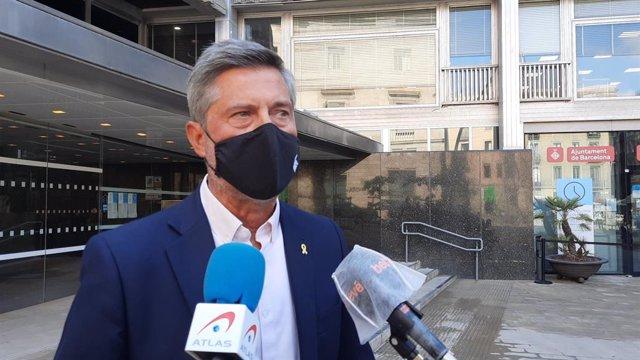 El portaveu de Junts a l'Ajuntament de Barcelona, Jordi Martí