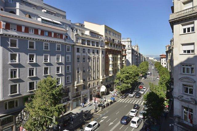 Archivo - Calle Calvo Sotelo.