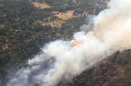 Incendio en El Barraco.